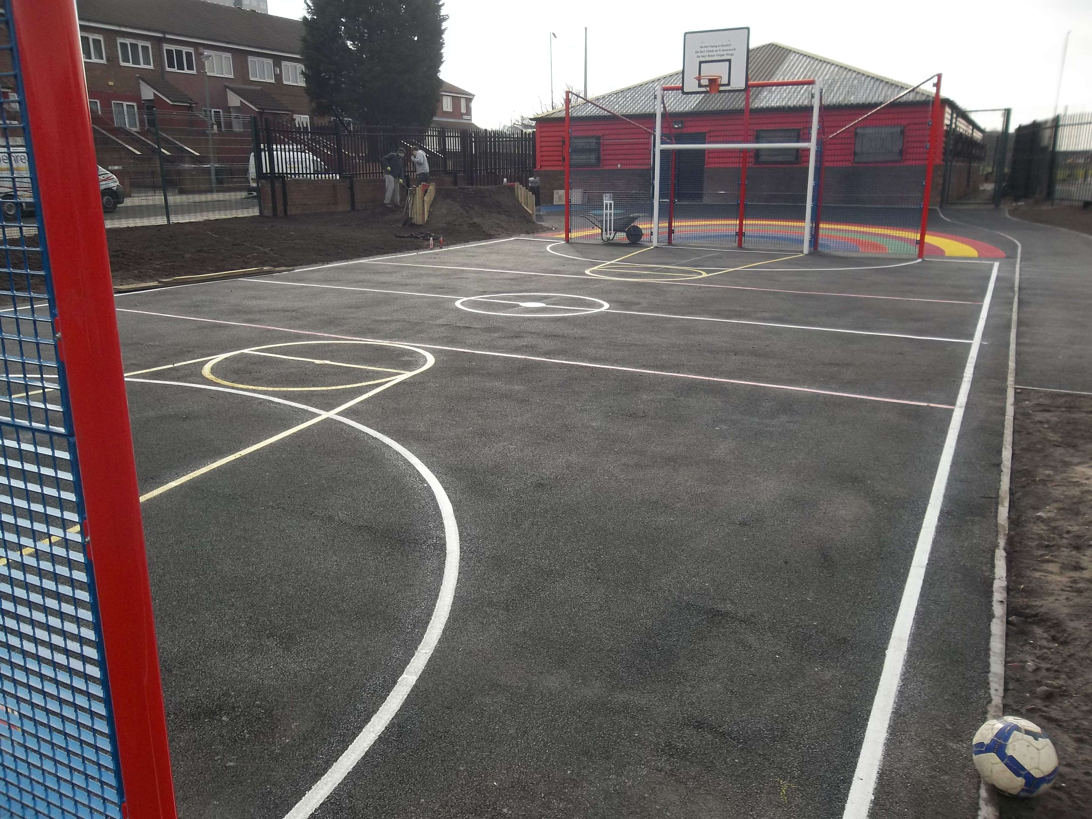 Basketball court built by Flanagan group for the community