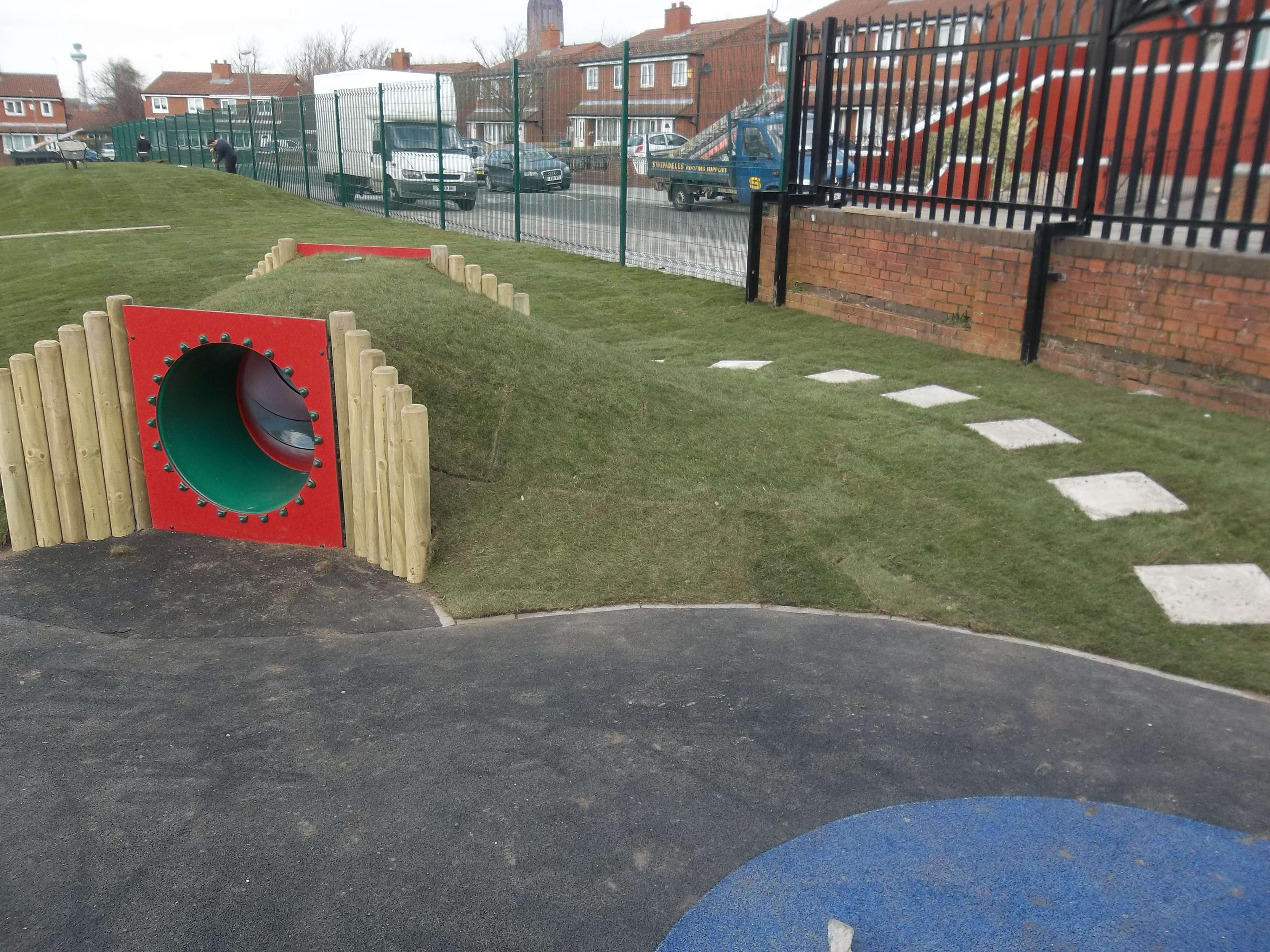 A newly built playground for the community