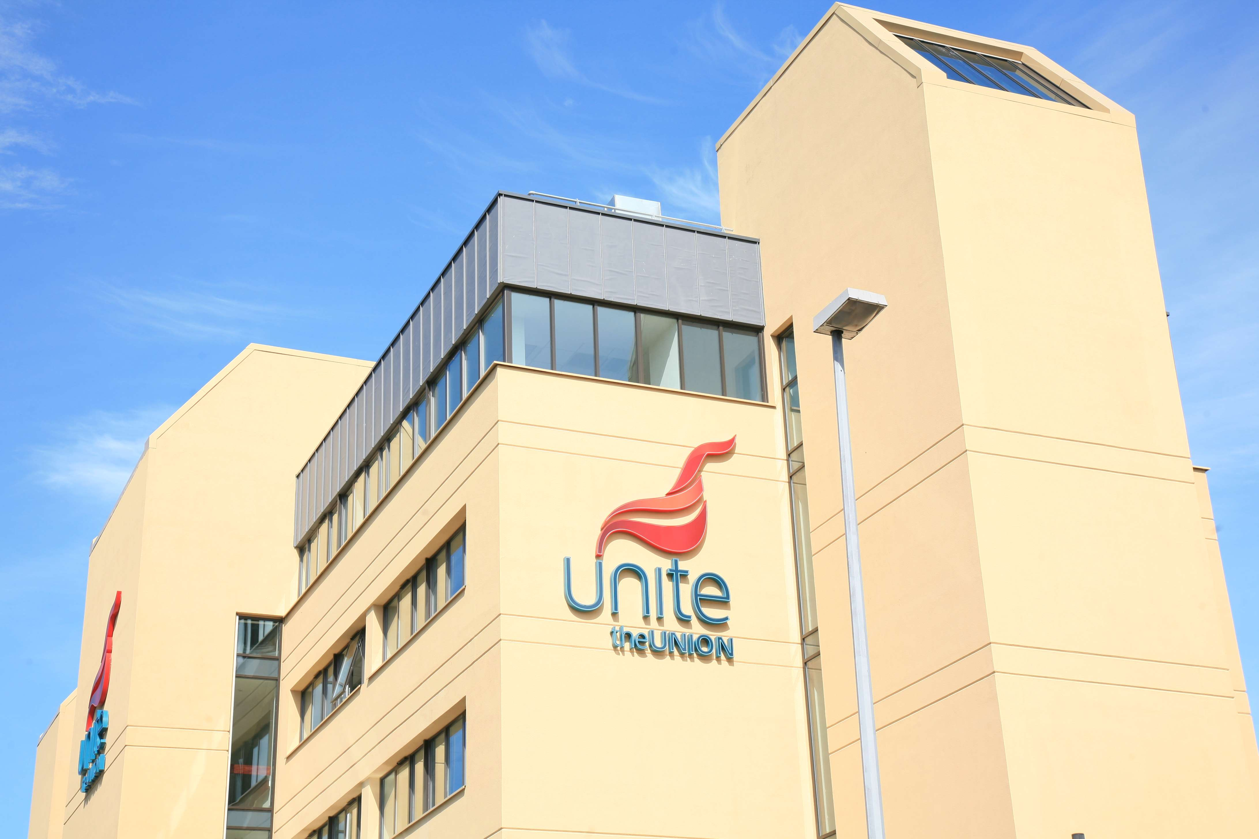 External view of Unite the union on a sunny day